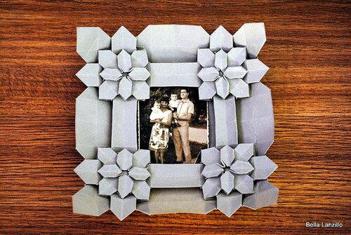 бумага, оригами, кусудама, рамка