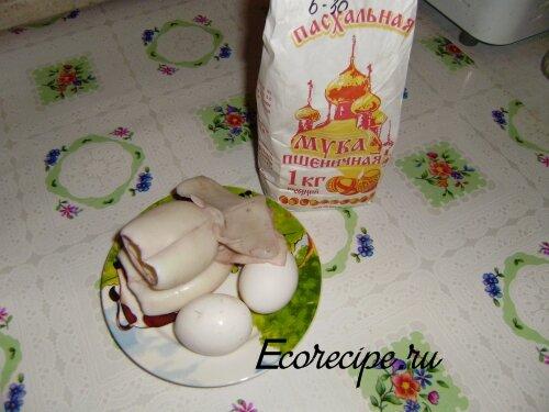 Ингредиенты для приготовления жареных кальмаров в кляре