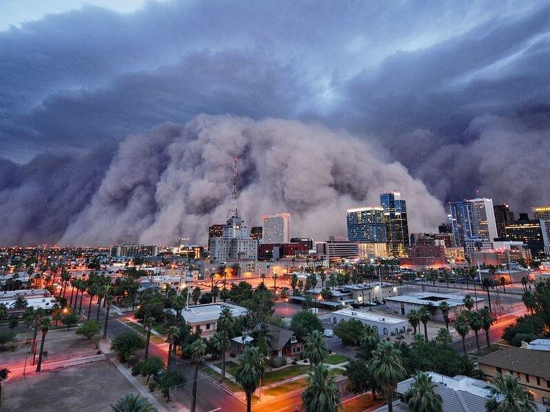 Пылевая буря в штате Аризона