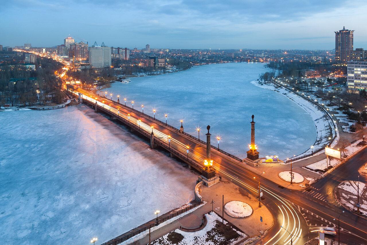река Кальмиус, пр. Ильича, мост