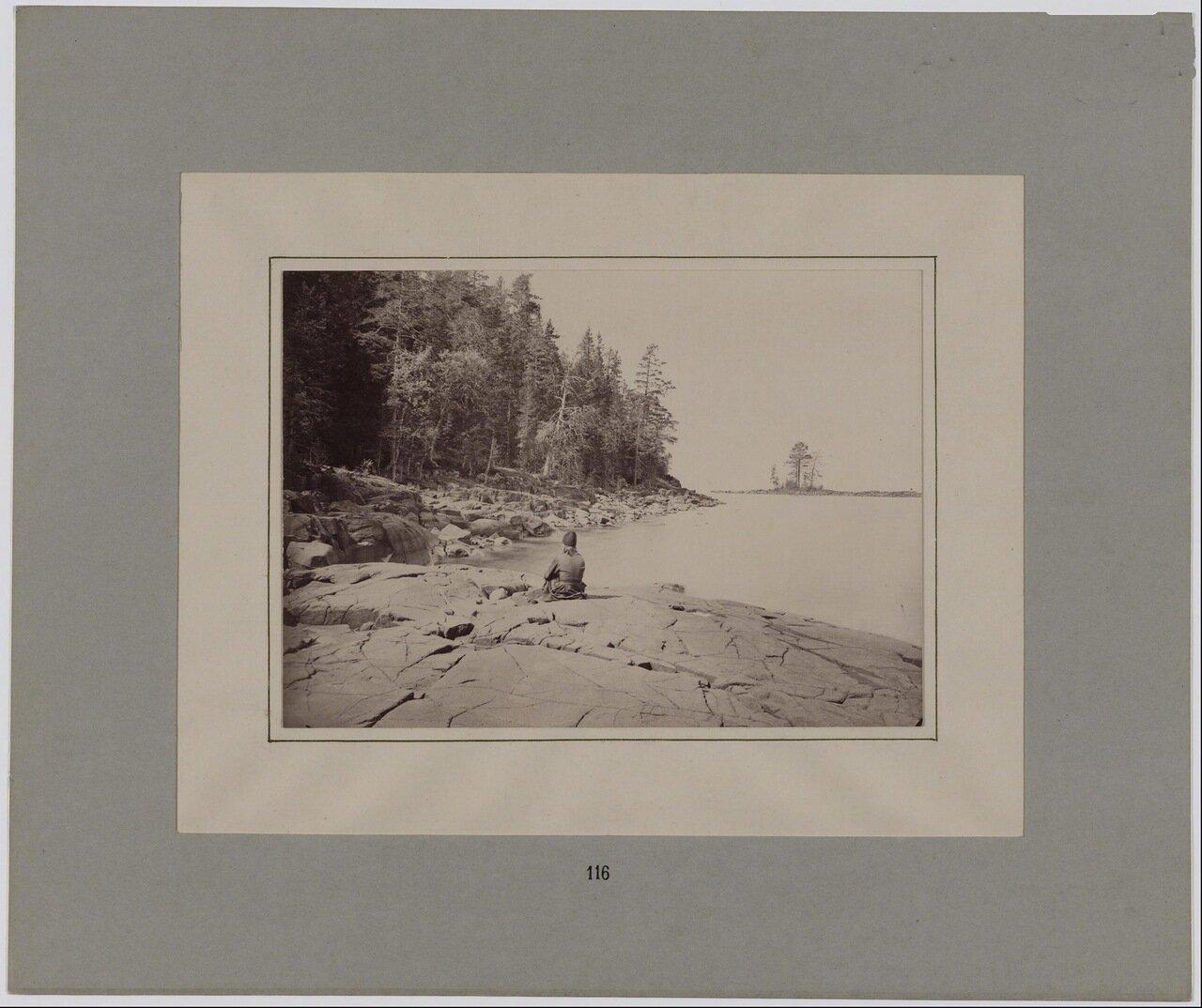 Монах на Валаамском берегу. 1887 г.