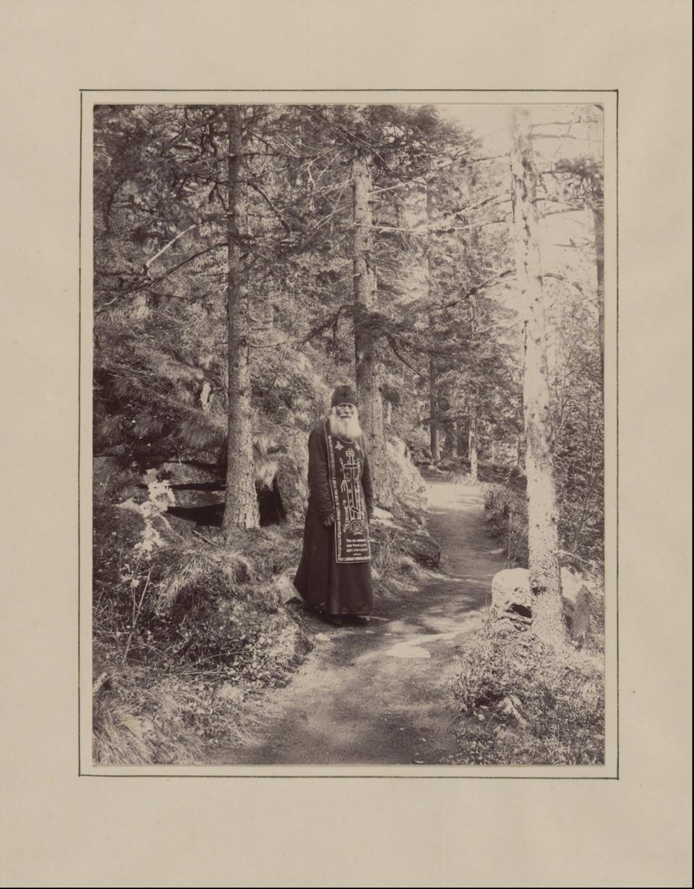 Монах-схимник Валаамского монастыря. 1887 г.