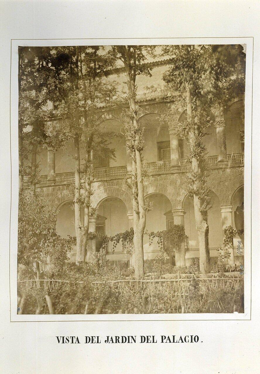 Вид из дворцового сада. Мадрид