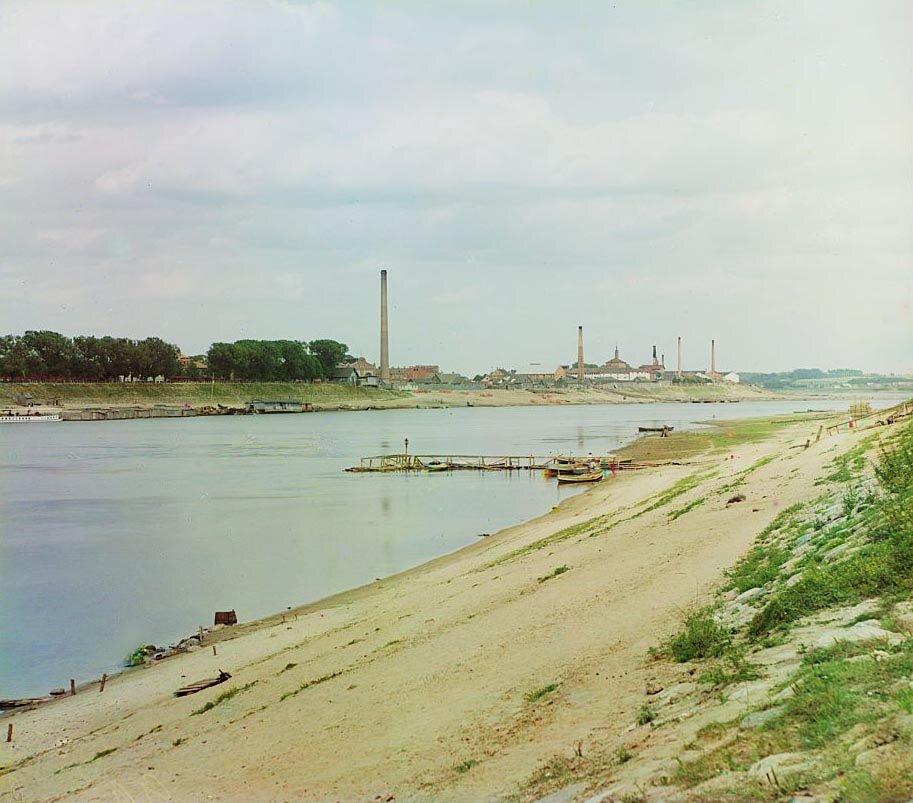 Общий вид набережной р. Западной Двины. 1912 г.