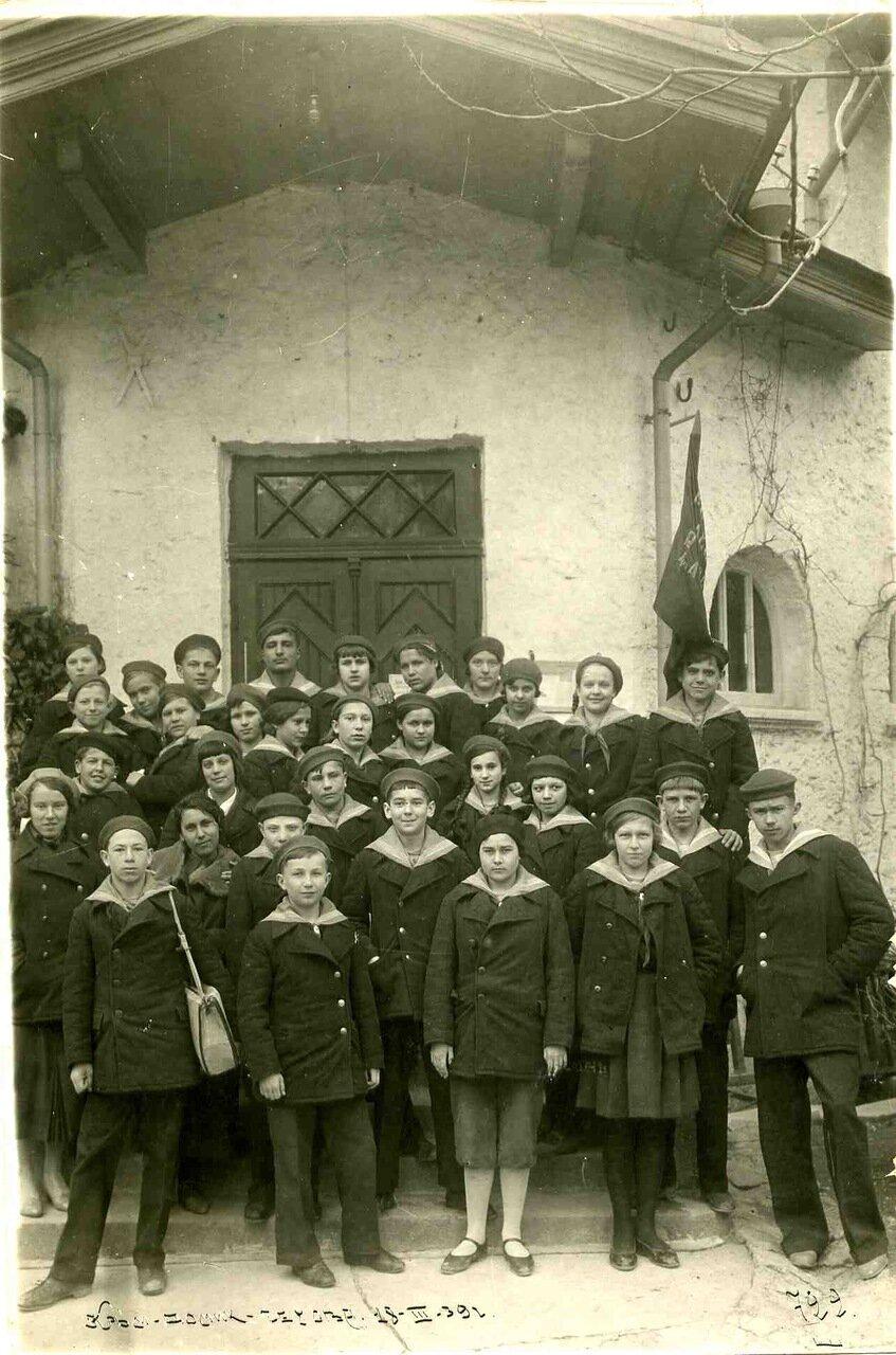 1939. Экскурсия артековцев в дом Чехова