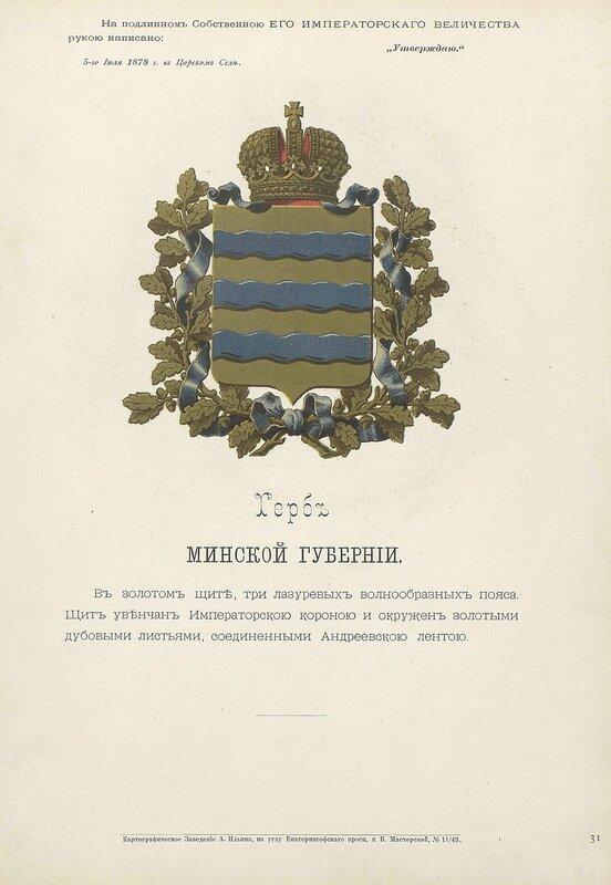 Минская губерния 1880 год