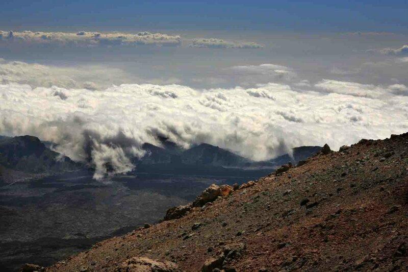 Константин Шульга, Тенерифе, на вулкане над облаками 1