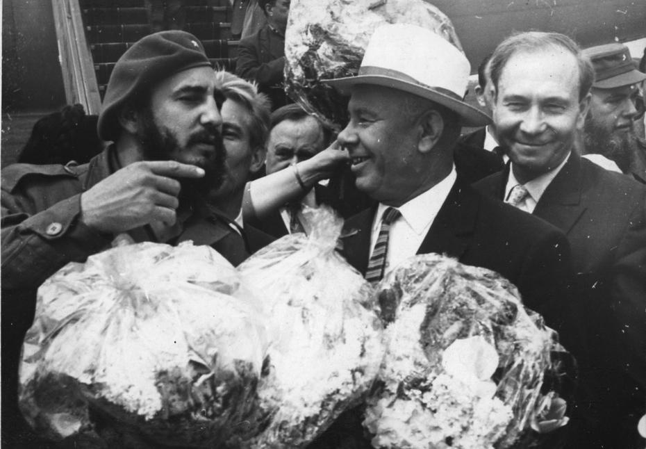 1963.04.24. Встреча Фиделя Кастро - премьер-министра республики Куба в Бориспольском аэропорту
