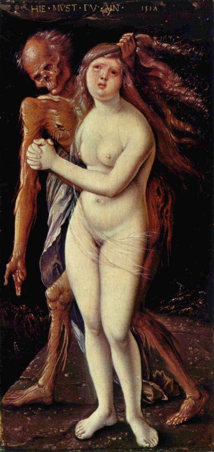 Бальдунг, Cмерть и девушка.1517г. (Der Tod und die Wollust) (2651 пикс.)