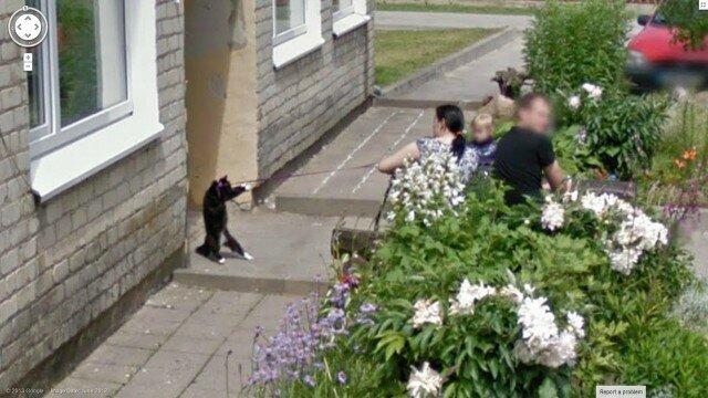 Google Street View засек противоправные действия