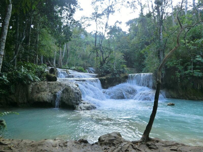 Лаос. Водопад Куан Си