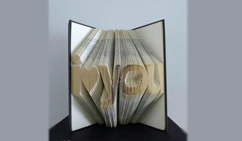 Объемные скульптуры из книг