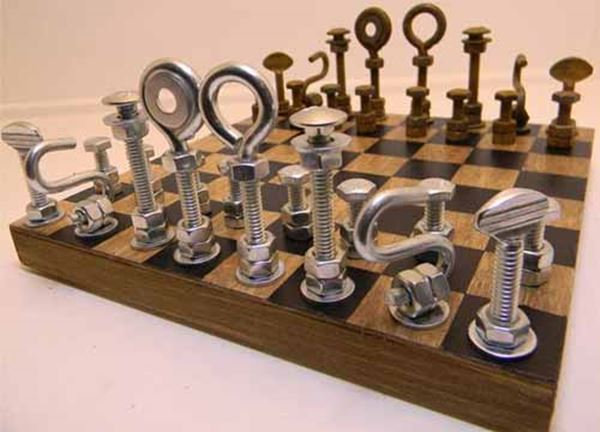 Необычный дизайн шахмат
