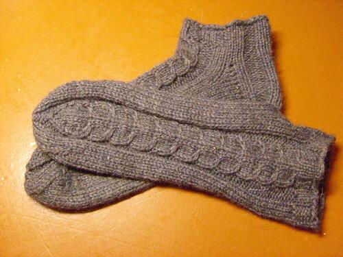 короткие носки спицами из дропс