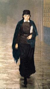 Курсистка (Е. П. Ярошенко). 1880. Ярошенко Николай Александрович