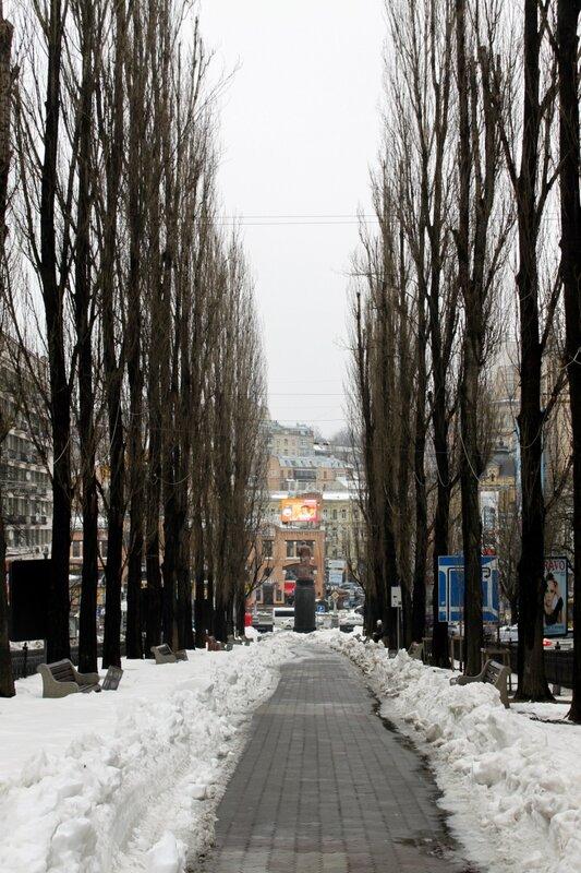 Дорожка к памятнику Ленину