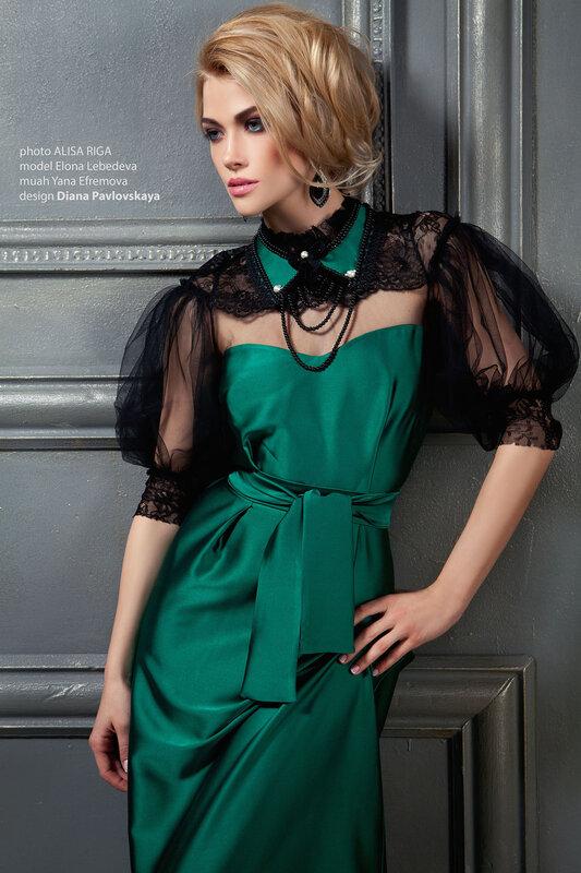 Вечернее платье от кутюр с рукавом