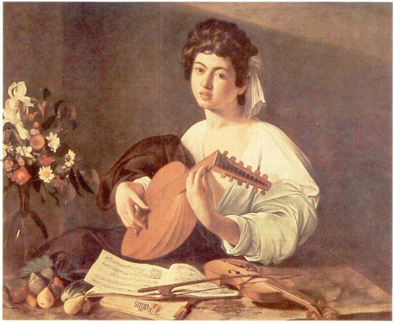 Картины старых мастеров, Караваджо, Юноша с лютней