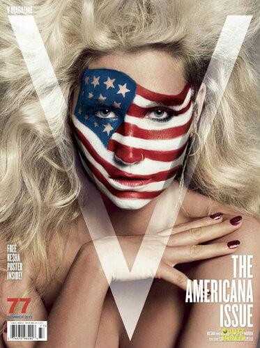 Kesha / певица Кеша в патриотической фотосессии в журнале V Magazine / фотографы Inez and Vinoodh