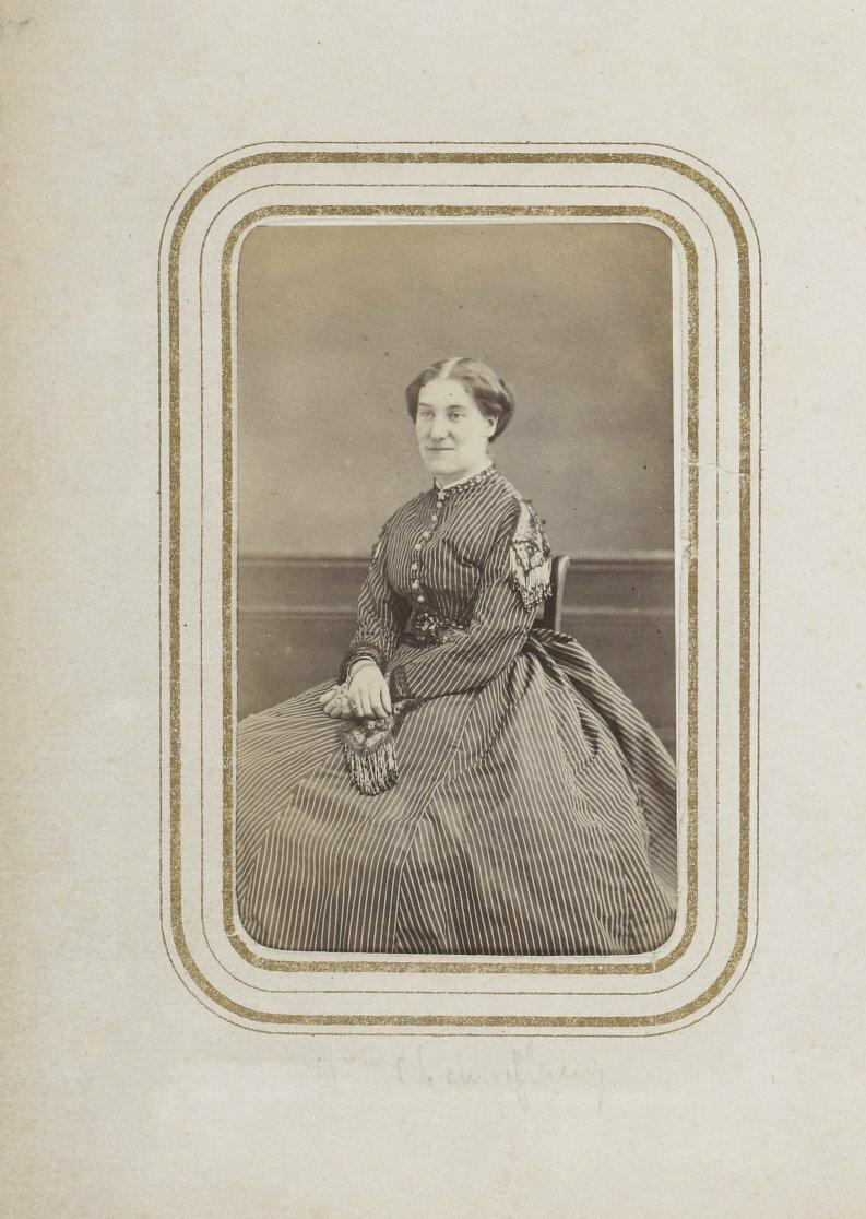 Мадам Шанфлери, супруга Жюля Юссона (1821-1889), французского писателя