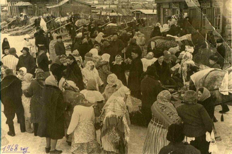 Проводы Зимы в деревне Ключи Красноярского края. 1968 г.