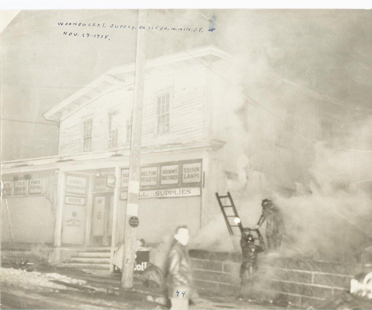 Тушение пожара в 1938 году