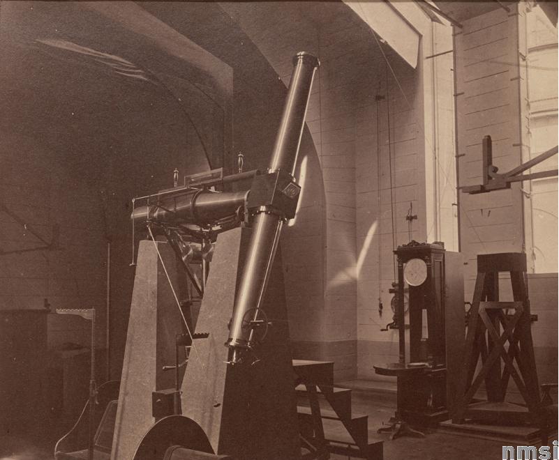 Пассажный инструмент Репсольда в Пулковской обсерватории. 1876 г.