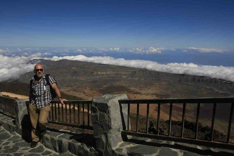 Константин Шульга, Тенерифе, на вулкане над облаками