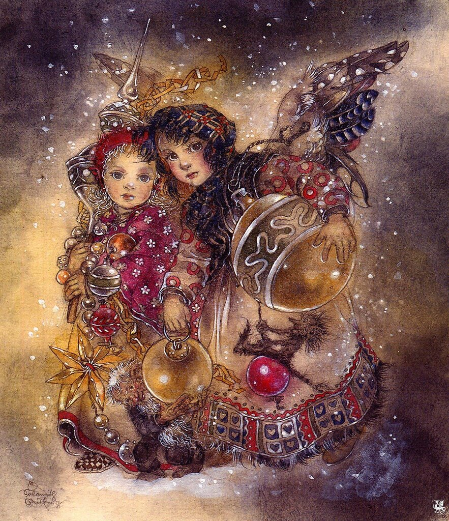 Картинки, картинка художников рождество