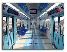 ОАЭ. Дубаи. Метро. Interior of the new Dubai Metro Train. Фото  Philip Lange Depositphotos