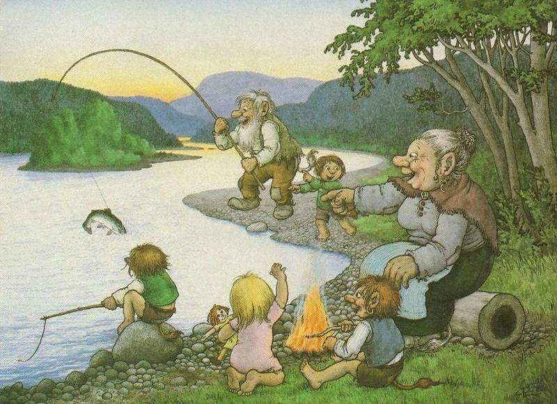 внучка на рыбалке с дедушкой