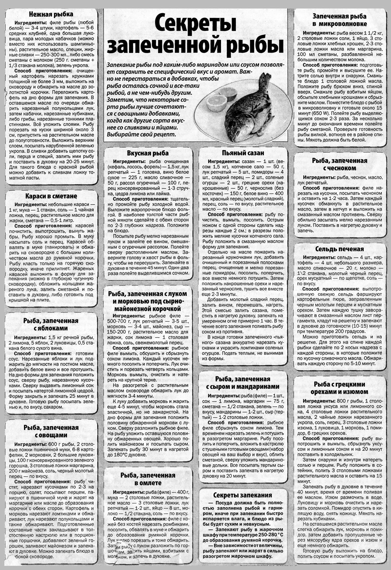Запеченная рыба: подборка рецептов