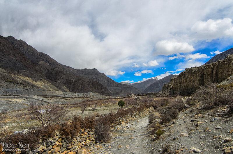 виды по дороге в Джомсом, Гималаи, Непал