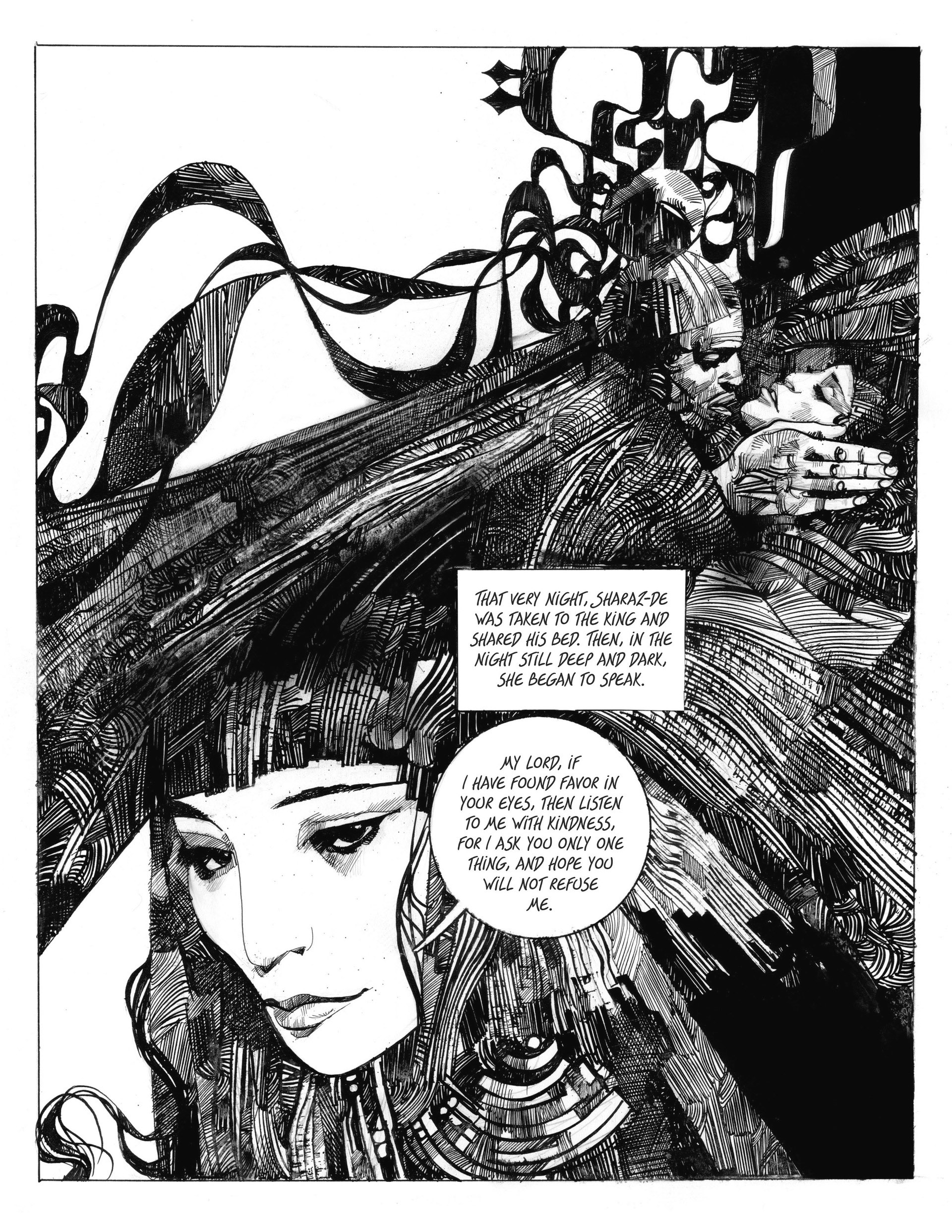 Image result for Sergio Toppi Tales from Arabian Nights