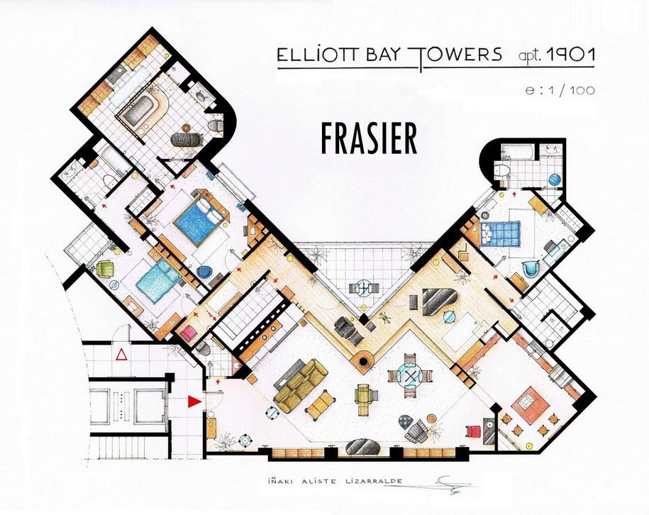 Квартира доктора Фрейзер из одноименного телешоу «Фрейзер»