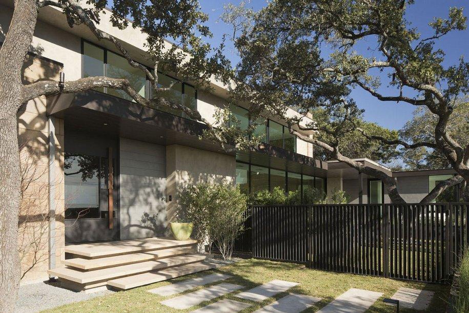Прямые линии Skyline House в Остине, штат Техас