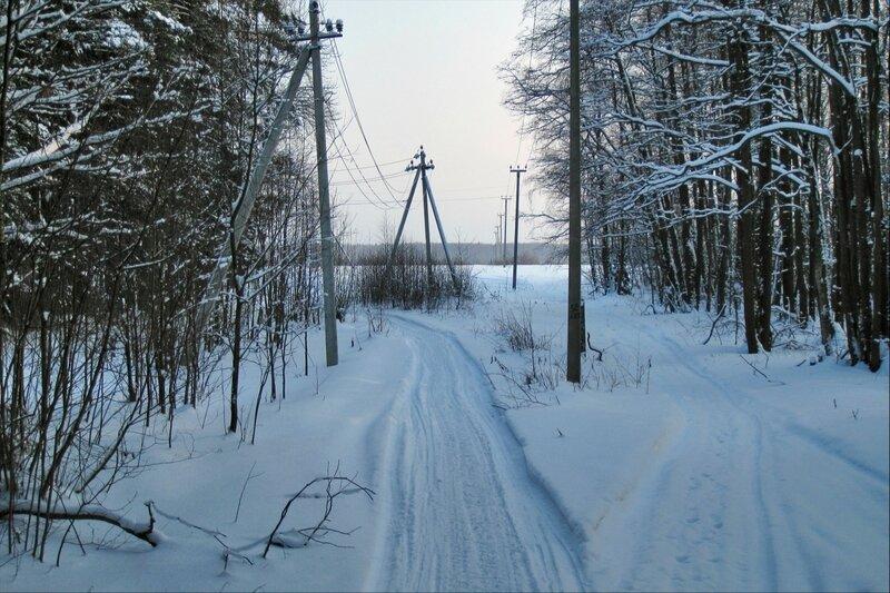 Выезд на поле близ Славино