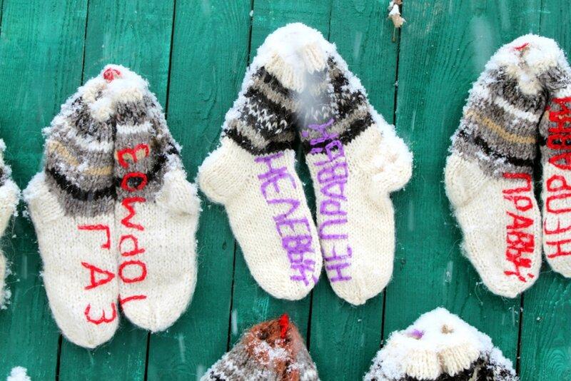 Сувенирные носки на Андреевском спуске