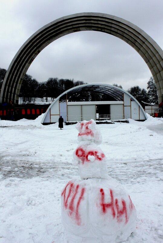 Снеговик в Хрещатом парке