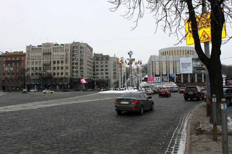 Европейская площадь в феврале