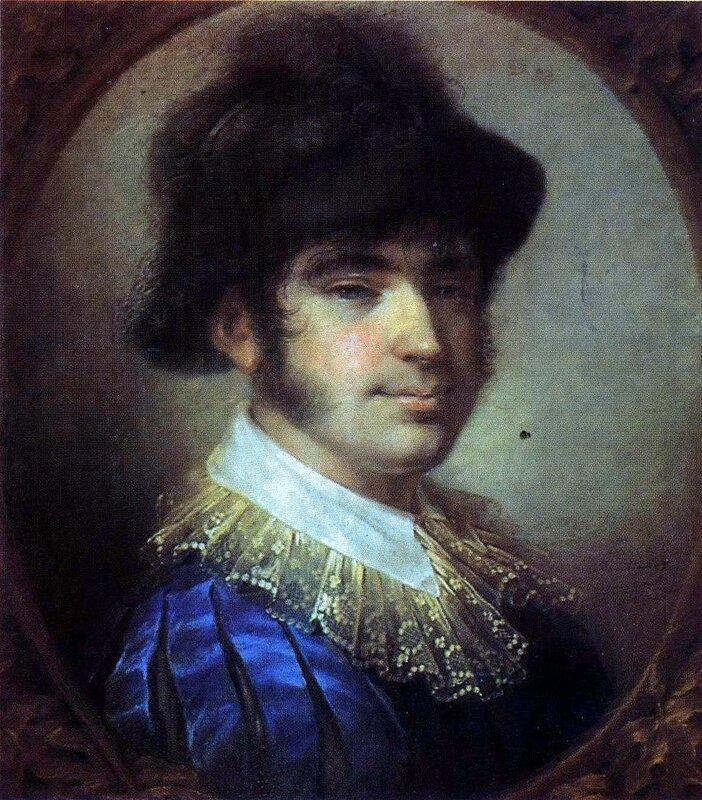 Алексей Венецианов, Портрет молодого человека в испанском костюме. 1804