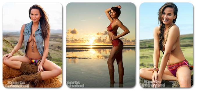 Chrissy Teigen / Крисси Тейген в каталоге Sports Illustrated Swimsuit 2013