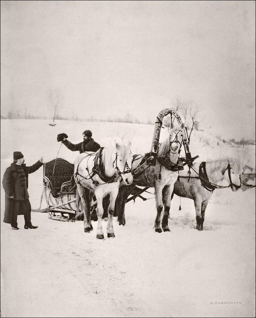 Зима 1901 года. Русская тройка
