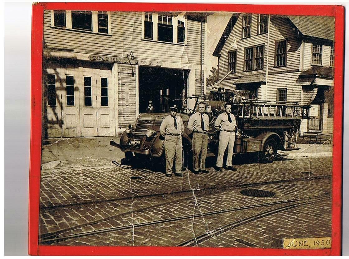 Пожарная станция №1 в июне 1950-го.