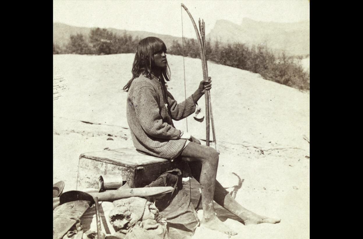 Мейман, индеец Мохаве , гид и переводчик во время путешествия, штат Колорадо, в 1871 году