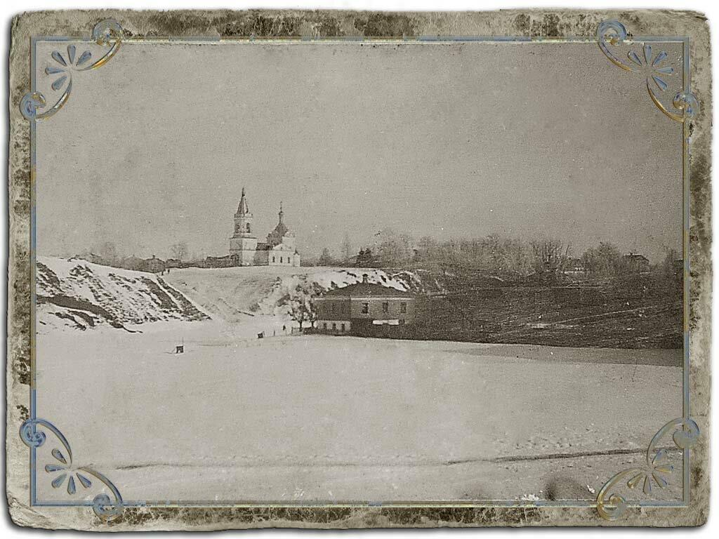 Рождественская гора и церковь Рождества Христова с Ильинского моста