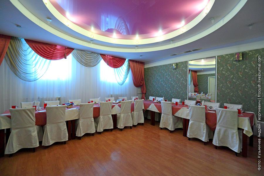 банкетный зал в пансиолнате Волга