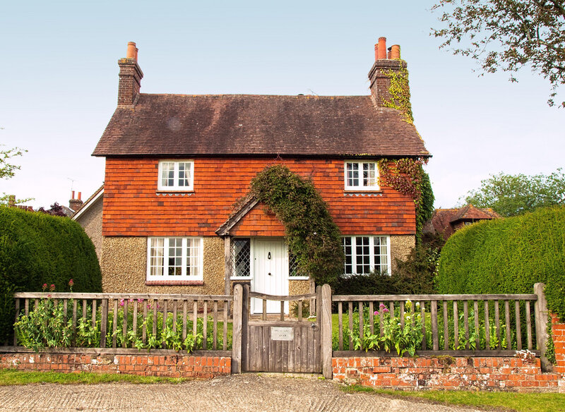 A pretty tile-hung cottage in Upton Grey, Hampshire
