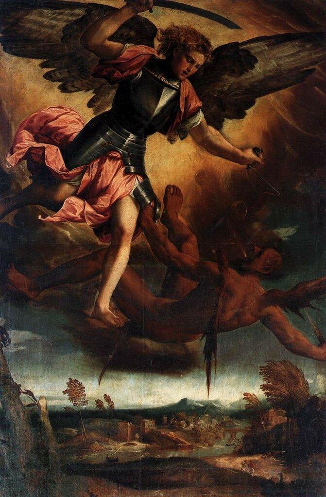 800px-Bonifazio_Veronese_San_Miguel_derrota_al_diablo_1530_Santi_Giovanni_e_Paolo_Venecia.jpg