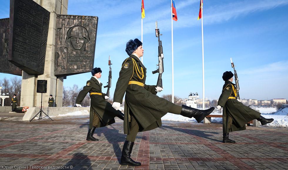 Митинг в честь 72-й годовщины победы в Сталинградской битве